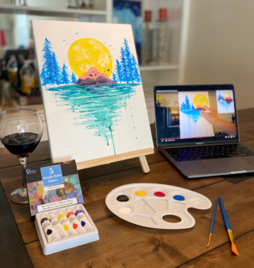 virtual paint and sip party