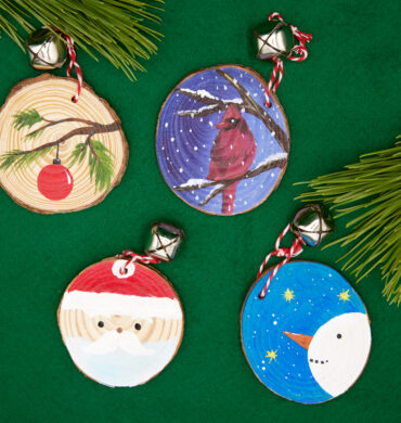 online holiday ornament painting party
