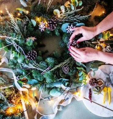 Christmas wreath online workshop